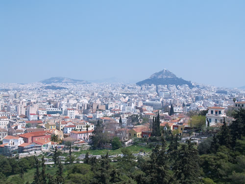 This is Lykavitos from Mars Hill under the Acropolis