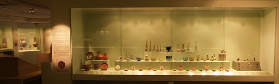 cycladic museum's display