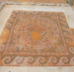 a mosaic floor from the 3d C BC