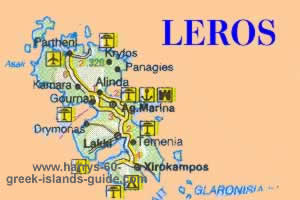 greece travel map leros greek island