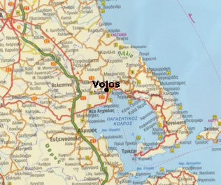 Map of Magenesia and Volos