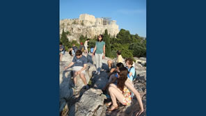 family walking tour athens